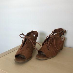 Suede SO zip up heels